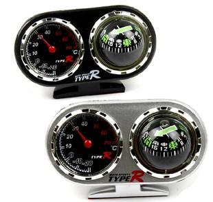 TYPER正品汽车指南针车载指南针车用指南温度计二合一方向球