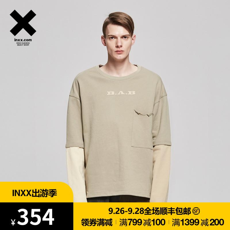 【INXX】Black and Blank 简约时尚灰白长袖T恤通款TM71012120