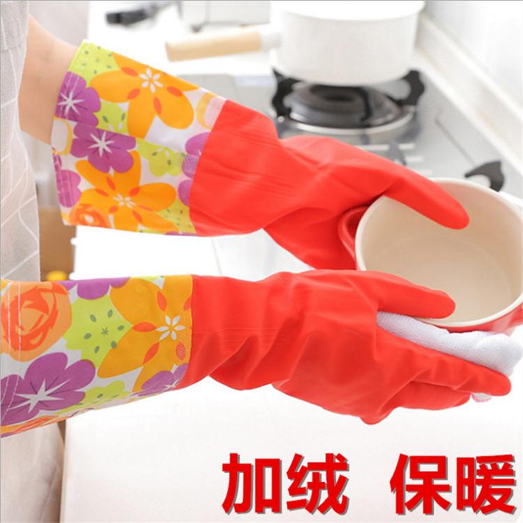 特价 冬季保暖敞口加绒洗碗洗衣清洁手套 家务手套 劳务手套 直销
