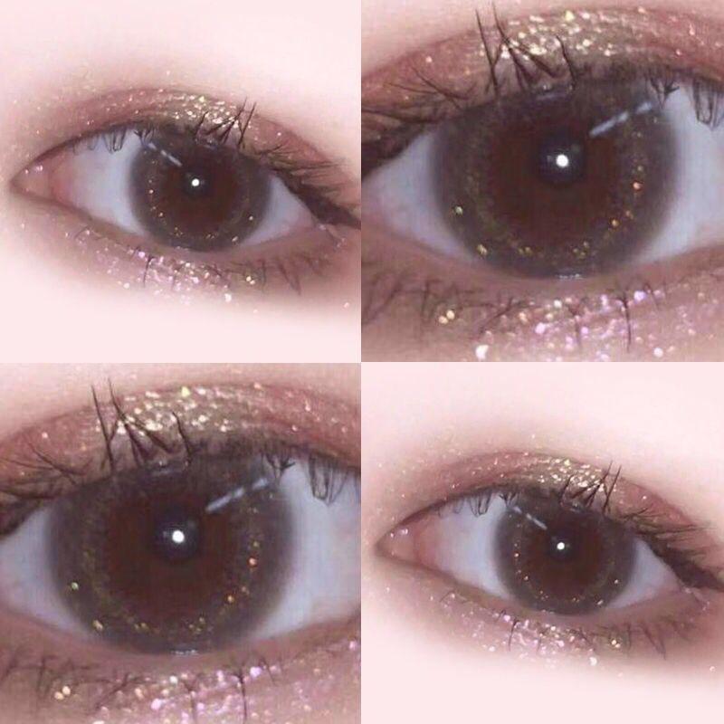 10月16日最新优惠桥本环奈同款美瞳女大小直径混血网红欧美蓝色年抛艾晶隐形眼镜KA