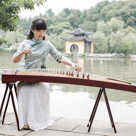 琼花古筝901 儿童演奏级考级初学者轻奢成人扬州实木教学古筝琴图片