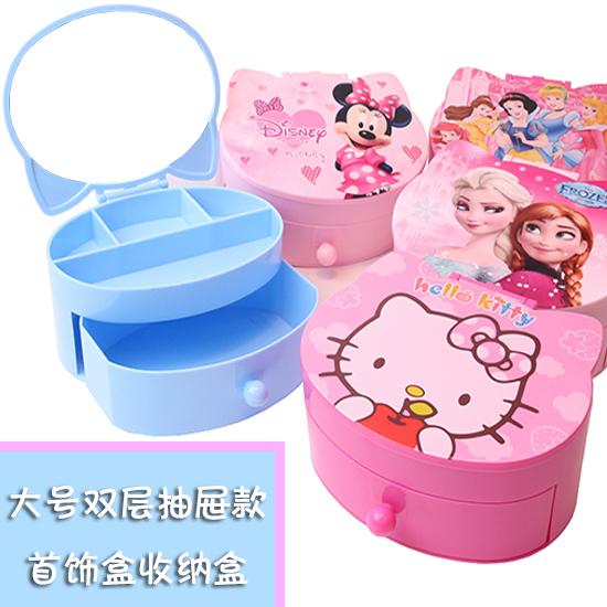 Милый мультики ребенок шкатулка ребенок аксессуары для волос принцесса в коробку девушка аксессуары составить статья головной убор коробка