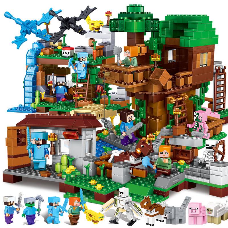 2021乐高积木我的世界拼装儿童玩具男孩益智力机关山洞拼图6-14岁