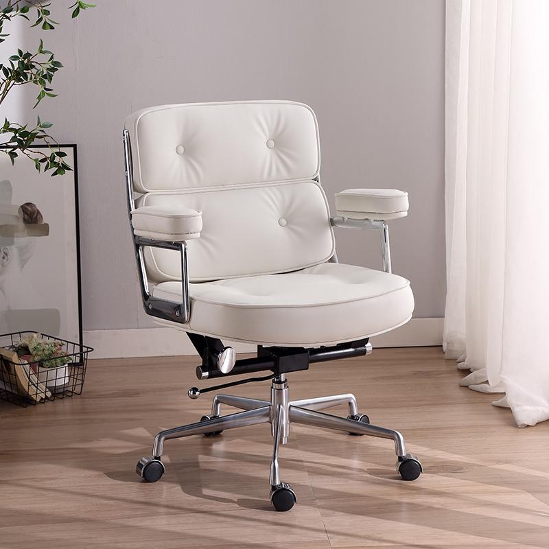 佛山如进真皮电脑椅家用舒适老板椅久坐办公椅奢华型座椅调节椅子