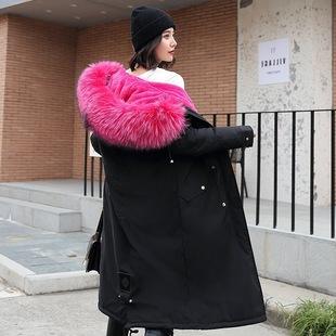 明星韩版 中长款 亏本冲量爆款 羽绒服女士外套过膝盖加厚加宽2020