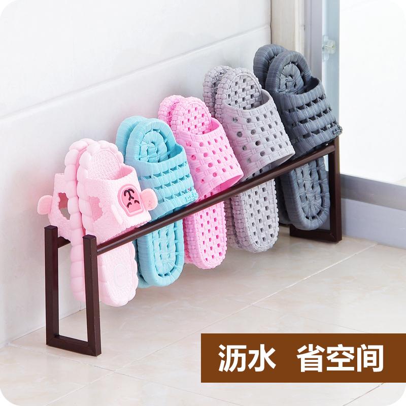 Творческий домой легко шлепанцы полка железо металл ванная комната обувная полка комната с несколькими кроватями ванная комната ворота после обувь хранение полка