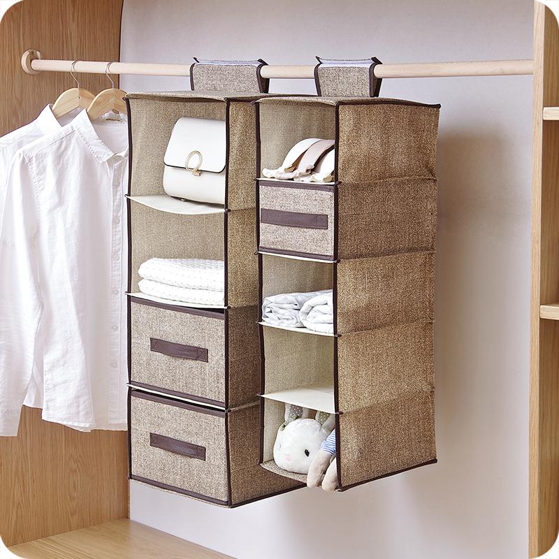 优思居 悬挂式衣柜收纳挂袋 衣橱布艺收纳袋多层抽屉盒衣服整理袋