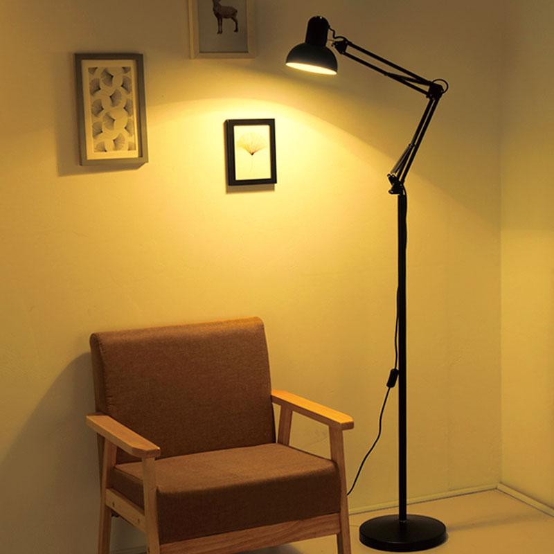 Простой творческий американский дистанционное управление торшер гостиная спальня прикроватный книга дом изучение вертикальный настольные лампы маджонг промысел лампа