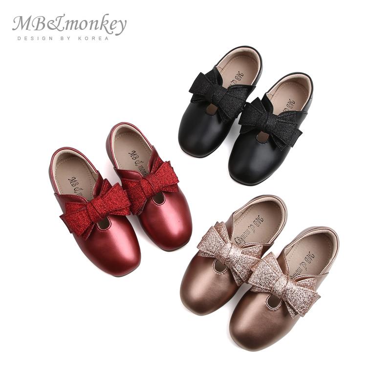 mbmonkey女孩鞋2019春秋新款女童鞋子单鞋儿童皮鞋公主鞋女童软底