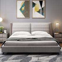 科技布床主卧布艺床婚床现代简约双人床北欧简约主卧榻榻米轻奢床