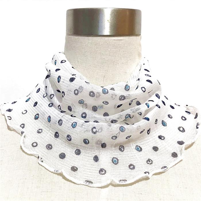 Silk Bib female spring and summer Pullover silk scarf mother sunscreen silk scarf thin fake collar mulberry silk mesh scarf