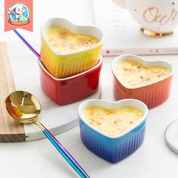 陶瓷舒芙蕾蛋挞烤碗蛋糕模具烤箱烘焙工具创意蒸蛋碗微波炉家用小