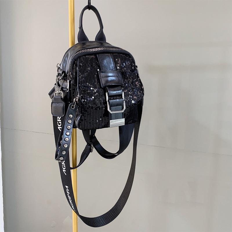 Buy Lolita small backpack bright film temperament backpack multi compartment pocket multi-purpose single shoulder bag