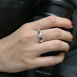 925純銀戒指男女簡約小眾設計 ins冷淡風單身時尚潮個性情侶指環