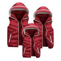 秋冬季新款亲子装羽绒棉马甲男女全家装坎肩外套工服背心学生班服