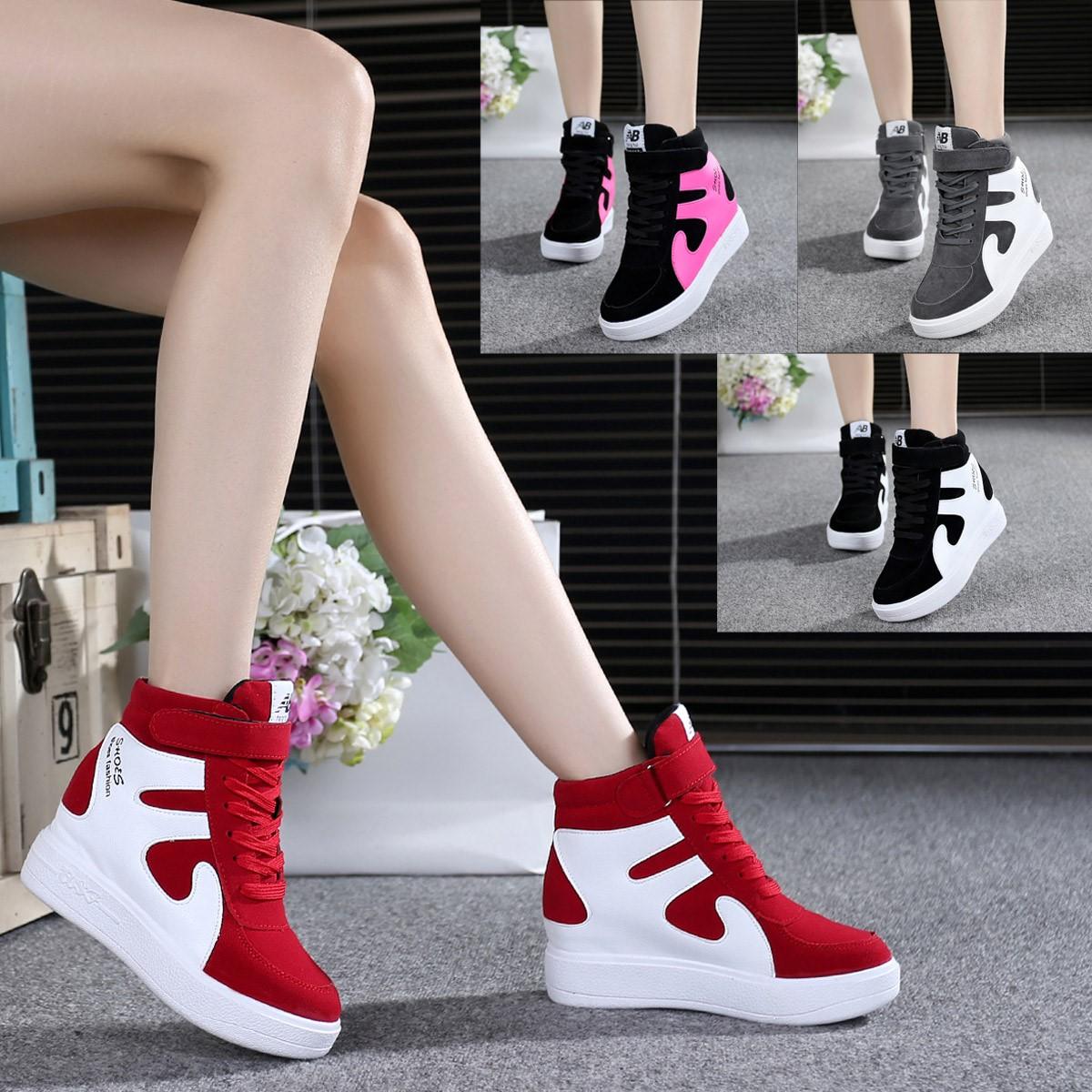 Женские ботинки на платформе / Высокие кроссовки Артикул 600962219630