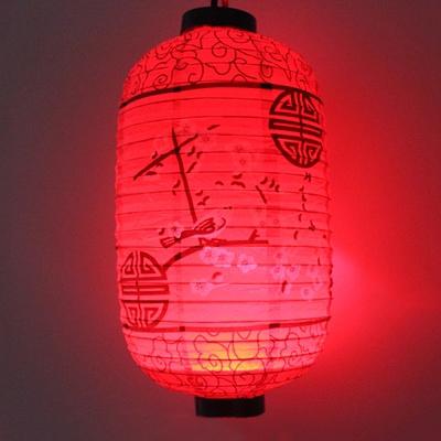 新年元旦中秋纸灯笼元宵春节LED冬瓜电池手工红灯笼中国古风挂饰