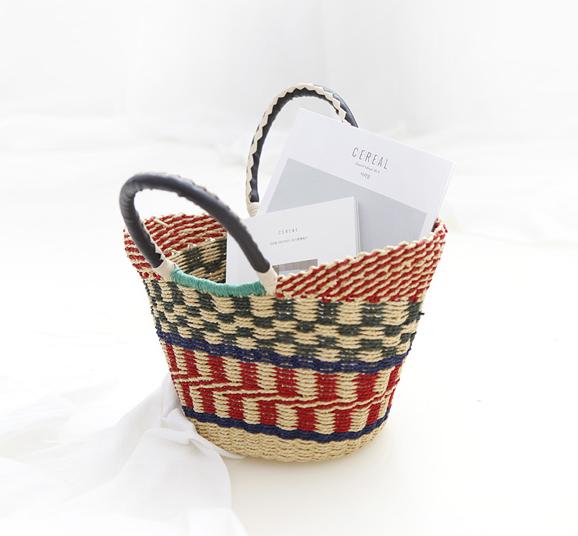 限4000张券Annadiva韩国官网正品夏装彩色麻绳编织手提包06-20
