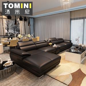 真皮沙发头层牛皮 简约现代转角客厅进口中厚大小户型皮艺沙发