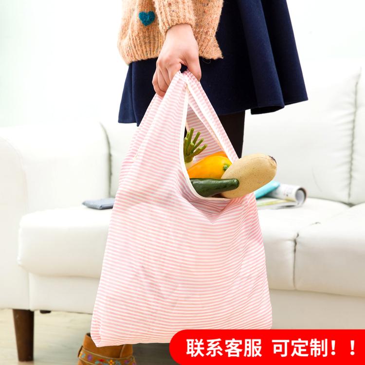 環保購物袋可摺疊便攜現代簡約防水買菜袋子帆布手提大容量環保袋