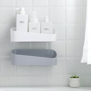 浴室置物架吸壁式免打孔现代简约洗漱用品收纳整理卫生间置物架子