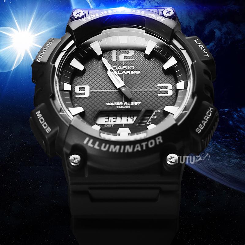 7ES800WD1AS810WAQ卡西欧运动手表太阳光能学生防水电子表男