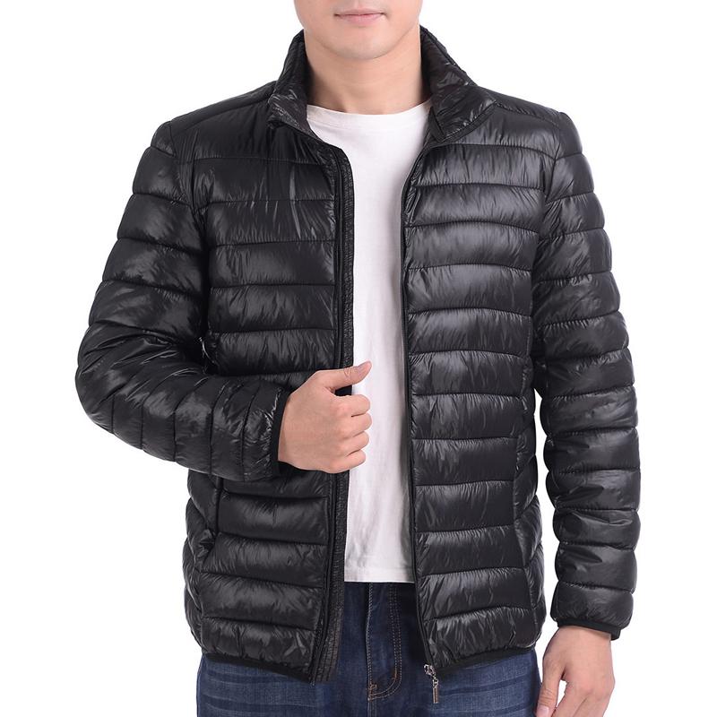 中年男士棉衣轻薄款棉服老人棉袄爸爸装中老年男装外套羽绒棉冬装图片