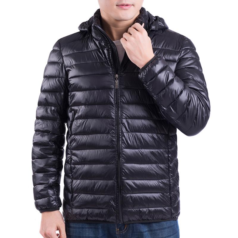 冬季中年男士外套厚羽绒棉中老年棉袄轻薄款爸爸装棉服青年棉衣男