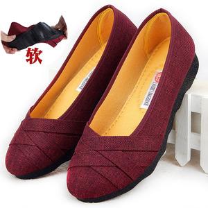 女士老北京布鞋女大码女鞋41一43妈妈鞋中年妇女鞋子42脚宽帆布鞋