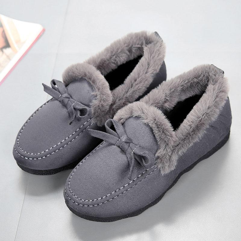 棉拖鞋女棉鞋家居可外穿老年人防滑冬女士包跟毛毛鞋大码室内家用