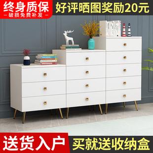 美式五斗柜轻奢卧室收纳柜实木五斗橱家用客厅靠墙储物柜子抽屉柜图片