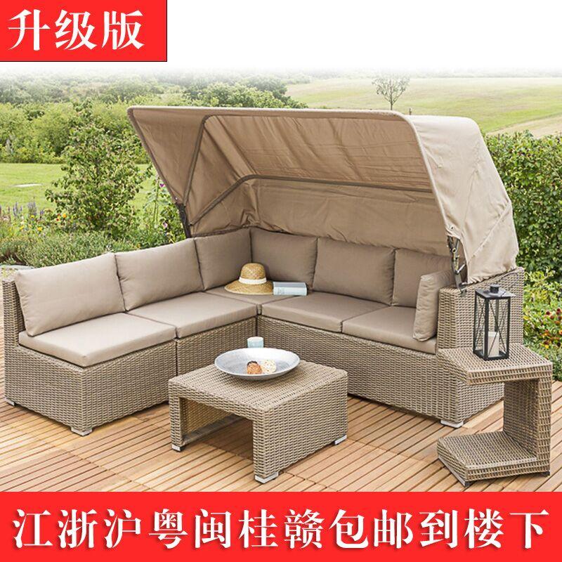 Балкон вилла роса тайвань на открытом воздухе плетеный стул диван на открытом воздухе суд больница сад гостиная ротанг копия виноградная лоза виноградная лоза искусство диван - кровать