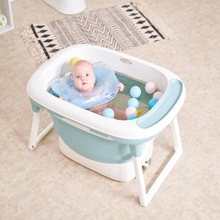 Baby bathtub folding bathtub baby bathtub baby bathtub can sit and lie down baby domestic swimming large