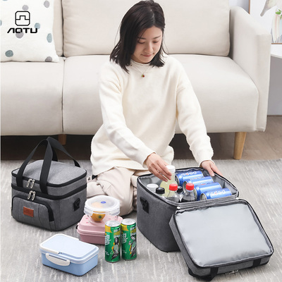 Outdoor large-capacity thickened insulation bag portable fresh-keeping cold ice pack food refrigerated box ice bag takeaway incubator