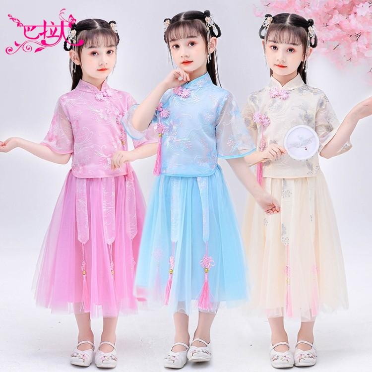 12岁女童汉服女生古装中国风7小女孩礼服夏公主裙子5大童超仙女裙