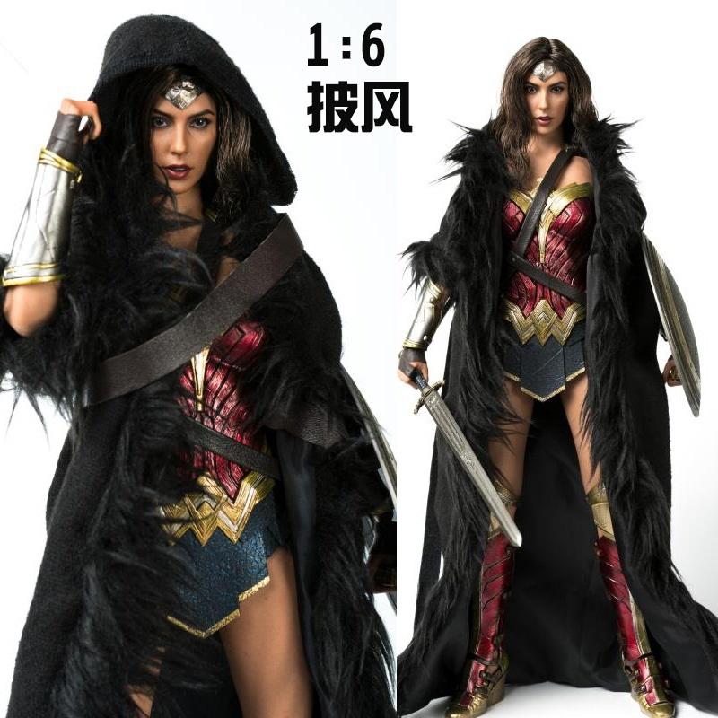 1/6女兵人衣服 VSTOYS女侠披风斗篷适用于Hottoys HT神奇女侠素体
