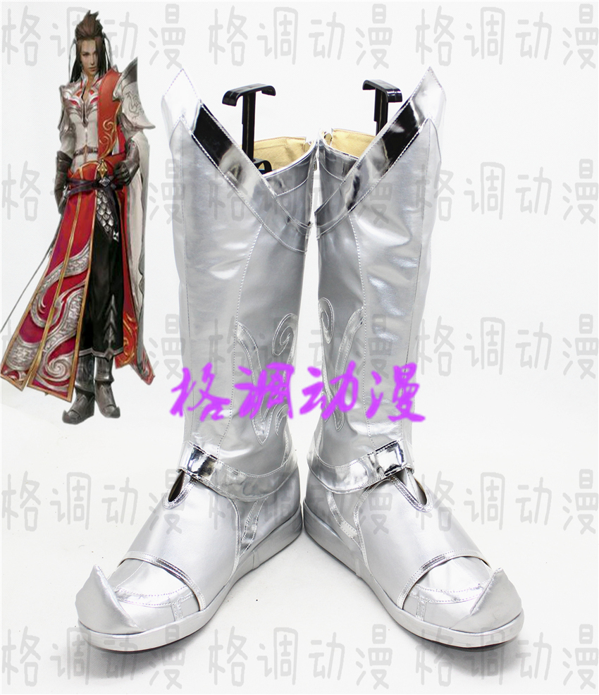 C4458 swordsman love three sword net three days strategy to become a man Confucian style set Cosplay shoes