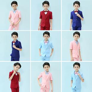 儿童小西装 套装 帅气英伦花童礼服男童西服三件套主持人钢琴演出服