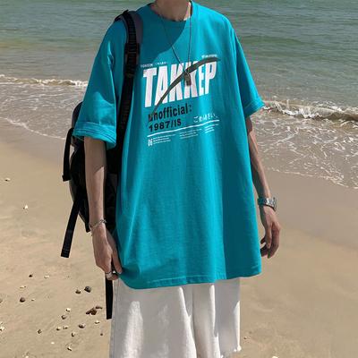2021夏季新款大字母印花纯色宽松短袖T恤 A201-XT187 P35 限价48