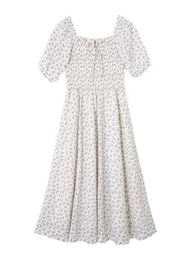 小镇姗姗黛西小姐温柔风复古连衣裙