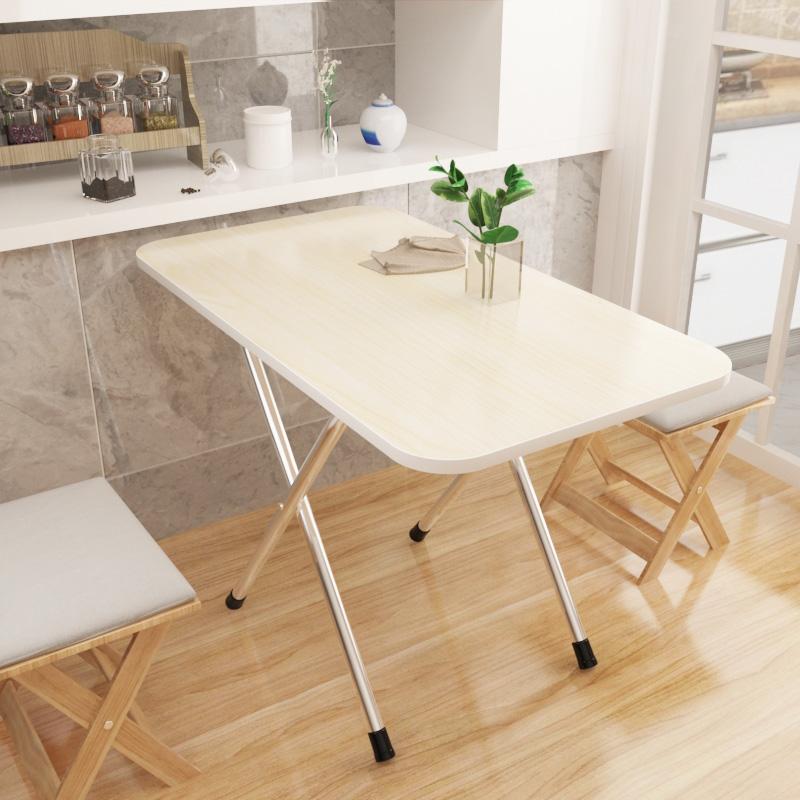 折叠桌靠边站餐桌简易家用小饭桌2人4人摆摊便携式方形吃饭小桌子