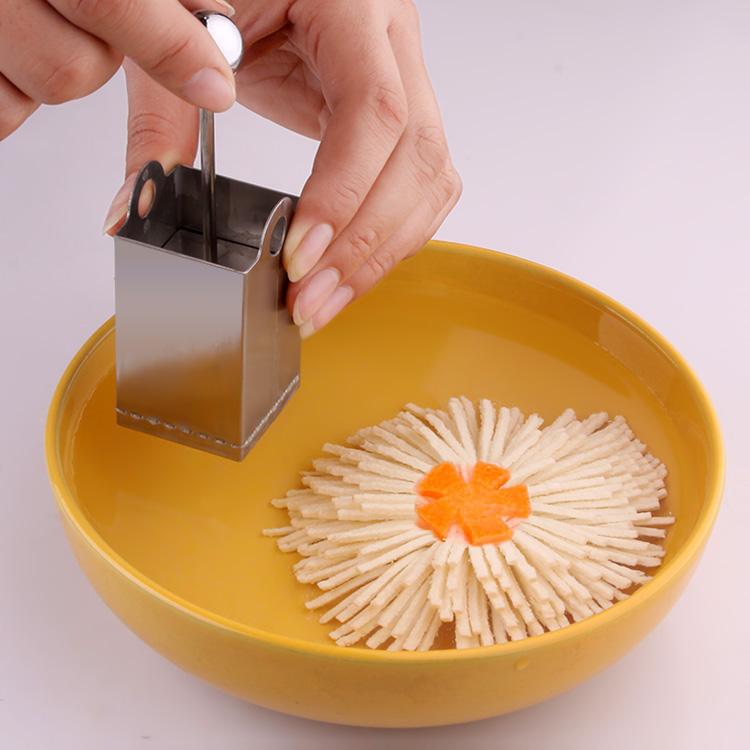 盘饰模具不锈钢菊花豆腐刀模具 豆腐切丝模具 文思豆腐模具