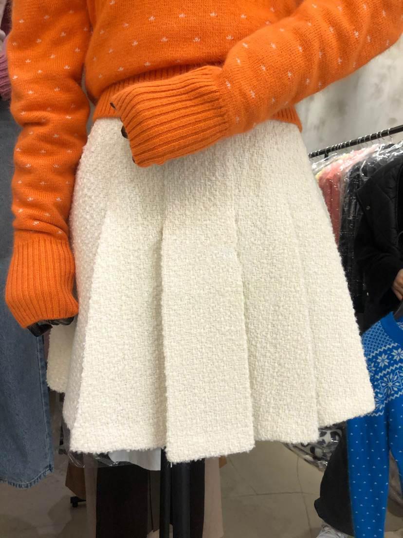 韩国东大门2021春季新品女装掐褶高腰半身裙女高腰减龄百搭短裙潮