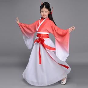 凉凉舞蹈服 离人愁衣服 汉服女夏装 古装服装 仙女 清新淡雅 儿童