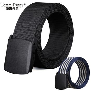 汤姆丹尼男女款防过敏金属帆布腰带