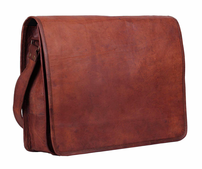 代购 手工皮质包 13寸男士复古手工皮革信使包斜跨肩包商务出行