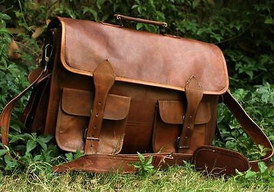 Mans Antique Leather Messenger Notebook Computer Briefcase knife fashion outdoor