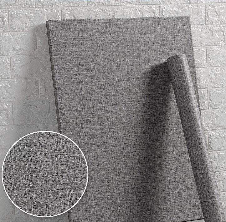 Solid color PVC waterproof wallpaper student bedroom furniture renovation decoration wallpaper clothing store gray background wall sticker