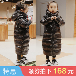 儿童羽绒服女童男童中长款过膝小童中童大童宝宝反季清仓处理童装