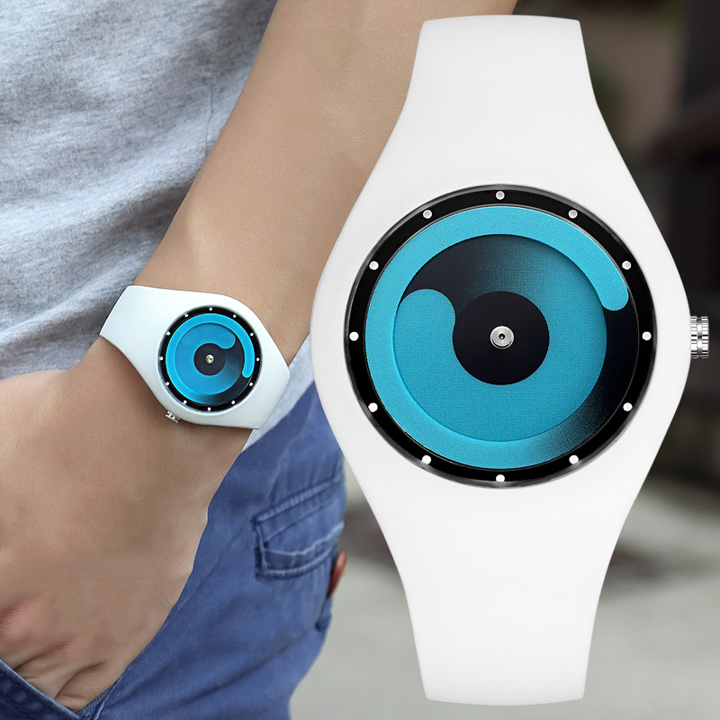 Creative watch boys and girls concept candy color jelly watch lovers sports Korean version youth waterproof students